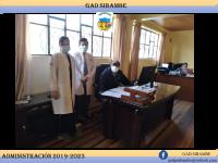 Reunión con funcionarios de Centro de Salud Sibambe